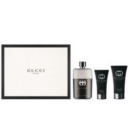 Zestaw prezentowy dla mężczyzn Gucci Guilty Pour Homme woda toaletowa 90ml + balsam po goleniu 75ml + żel pod prysznic 50ml