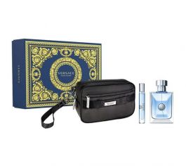 Zestaw prezentowy dla mężczyzn Versace Pour Homme woda toaletowa 100ml + woda toaletowa 10ml + kosmetyczka