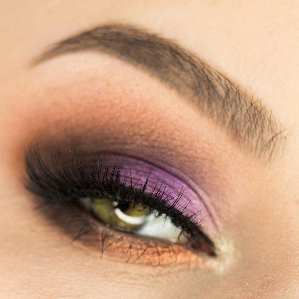 makijaż zielone oczy