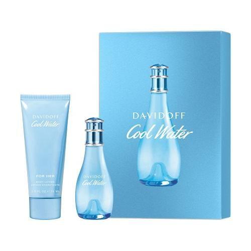 OUTLET Zestaw prezentowy dla kobiet Davidoff Cool Water woda toaletowa 30ml + balsam do ciała 75ml (uszkodzone opakowanie)