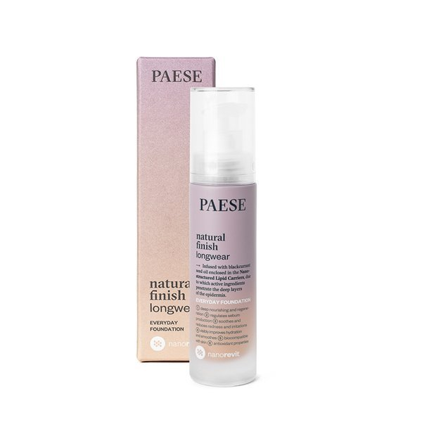 Paese Nanorevit Natural Finish Longwear Everyday Foundation (W) podkład do twarzy 04 Warm Beige 35ml