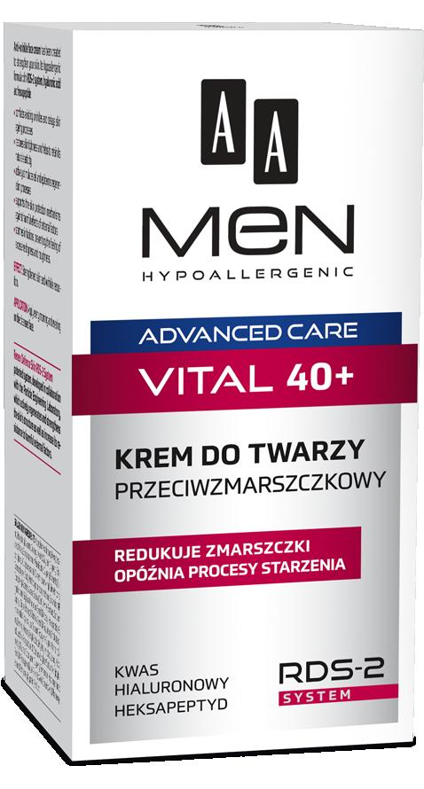 AA Men Advanced Care Vital 40+ (M) krem do twarzy przeciwzmarszczkowy 50ml