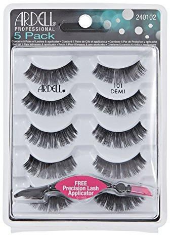 Ardell 5 Pack (W) sztuczne rzęsy 101 Demi 10szt + aplikator