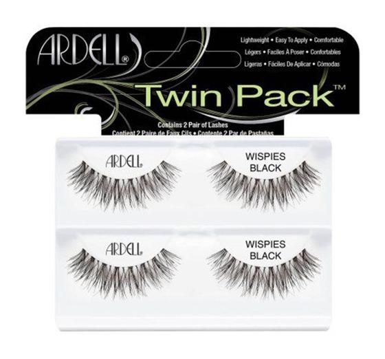 Ardell Twin Pack (W) sztuczne rzęsy Wispies Black 4szt.