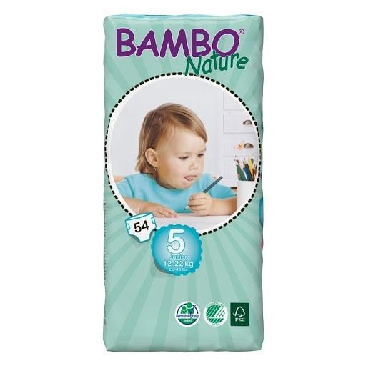 Bambo Nature pieluchy dla dzieci 5 Junior 12-22kg 54szt.