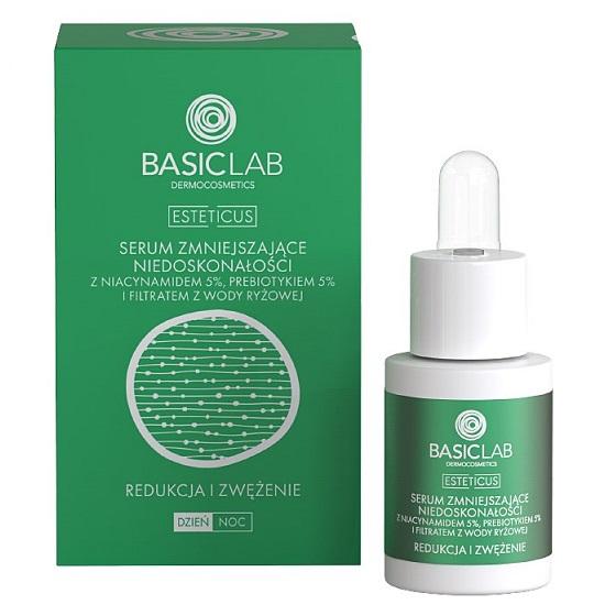 BasicLab Esteticus (W) serum zmniejszające niedoskonałości z 5% Niacynamidem 15ml
