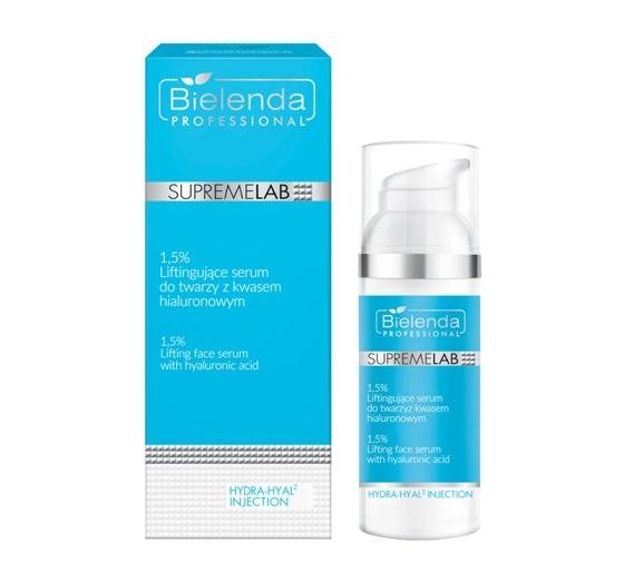 Bielenda Professional SupremeLab Hydra-Hyal Injection (W) 1,5% liftingujące serumdo twarzy z kwasem hialuronowym 50ml