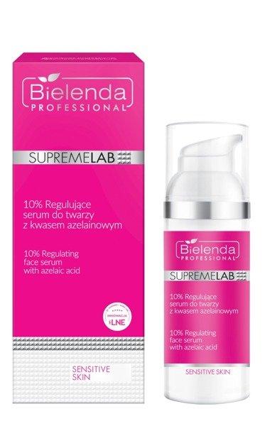 Bielenda Professional SupremeLab Sensitive Skin (W) 10% regulujące serum do twarzy z kwasem azelainowym 50ml