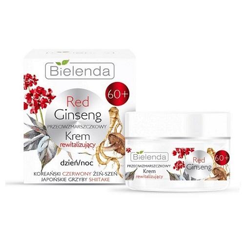 Bielenda Red Ginseng 60+ (W) przeciwzmarszczkowy krem rewitalizujący na dzień i noc 50ml