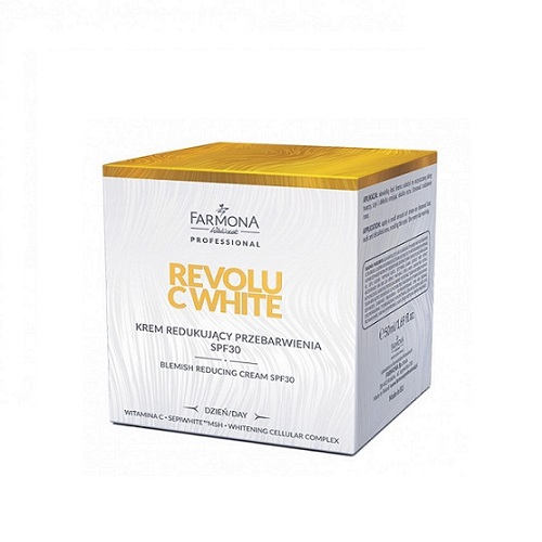 Farmona Professional Revolu C White Blemish Reducing Cream SPF30 (W) krem redukujący przebarwienia 50ml