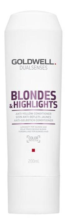 Goldwell Dualsenses Blondes & Highlights Anti-Yellow Conditioner (W) odżywka do włosów blond 200ml