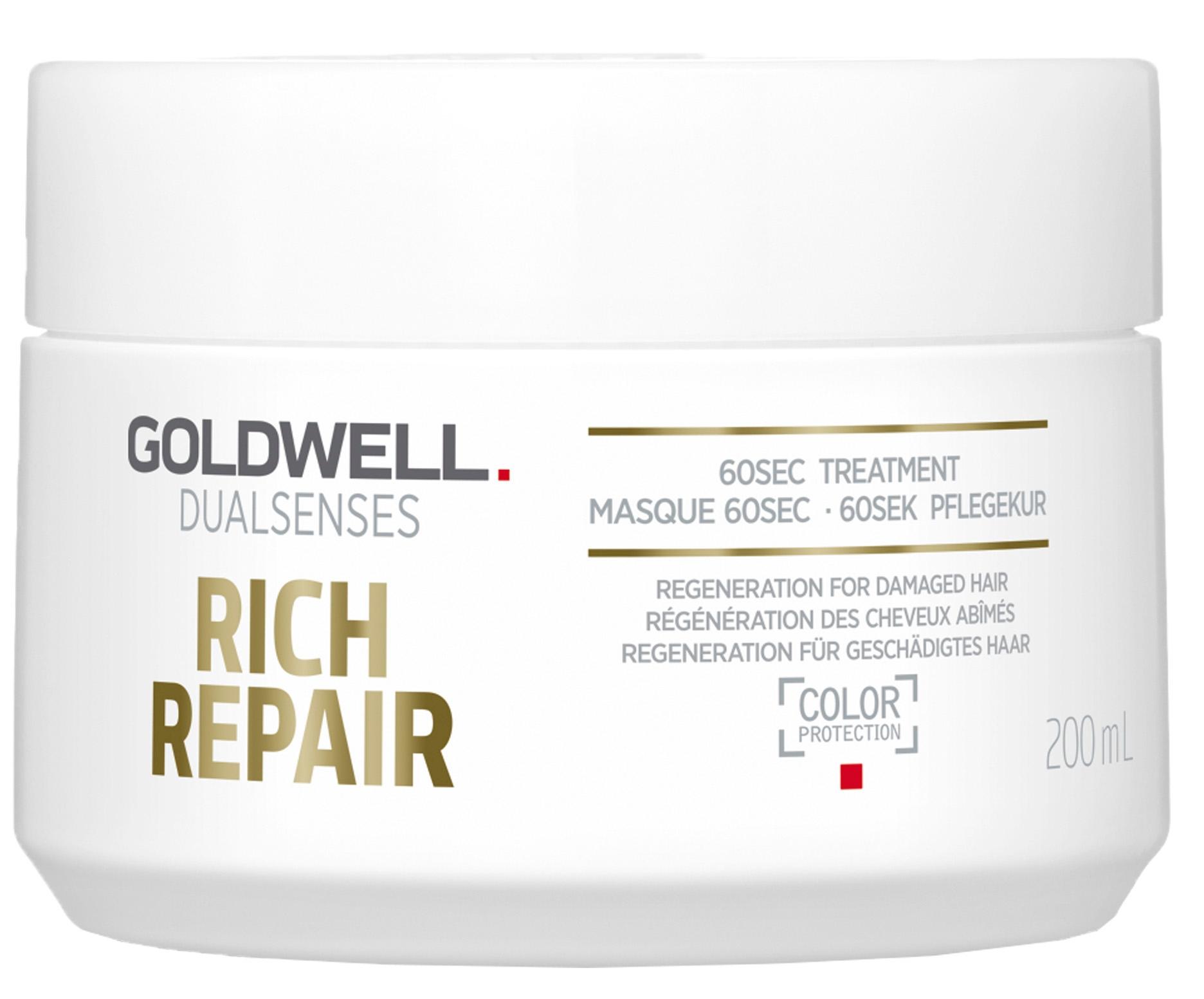 Goldwell Dualsenses Rich Repair 60 Sec Treatment (W) maska do włosów zniszczonych 200ml