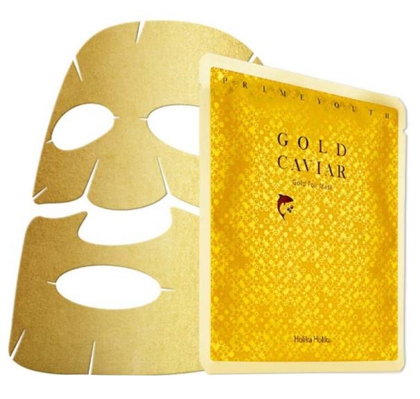 Holika Holika Prime Youth Gold Caviar Gold Foil Mask (W) maseczka do twarzy z cząsteczkami złota