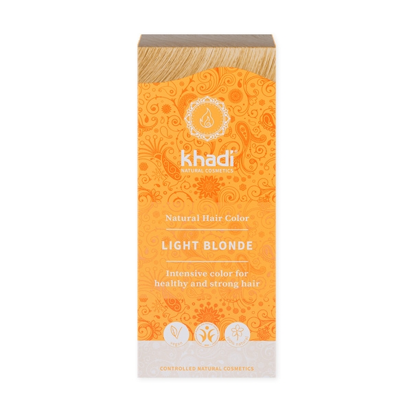 Khadi Natural Haircare (W) henna do włosów naturalna jasny blond 100g