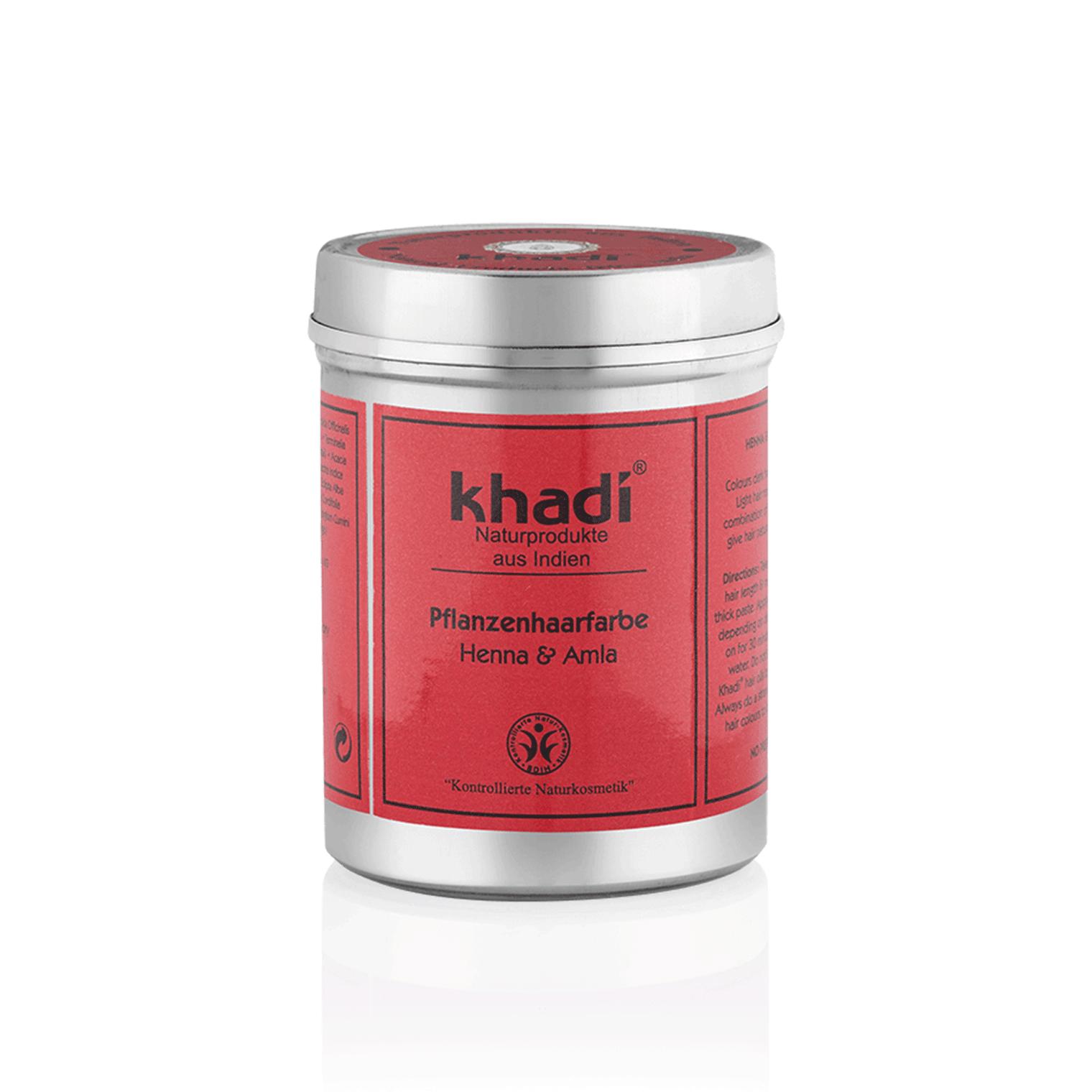 Khadi Natural Haircare (W) henna do włosów z Amlą kasztanowo-miedziany brąz 100g