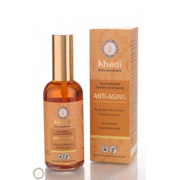 Khadi Natural Products (W) ajurwedyjski przecwizmarszczkowy olejek do twarzy i ciała 100ml