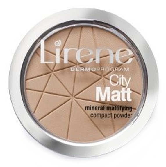 Lirene City Matt Powder (W) mineralny puder matujący 03 Beżowy 9g