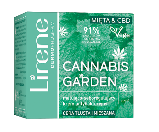 Lirene Cannabis Garden (W) matująco-seboregulujący krem antybakteryjny na dzień 50ml