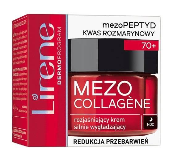 Lirene Mezo Collagene 70+ (W) rozjaśniający krem silnie wygładzający na noc 50ml