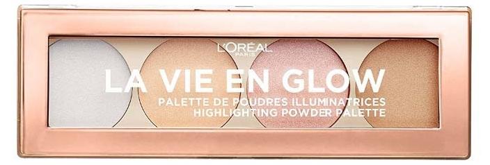 L'Oreal La Vie En Glow Illuminators (W) paleta 4 rozświetlaczy 02 Cool Glow 5g