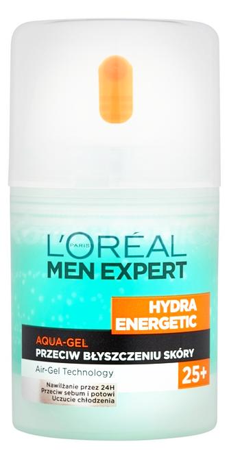 L'Oreal Men Expert Hydra Energetic 25+ Aqua Gel (M) żel przeciw błyszczeniu skóry 50ml