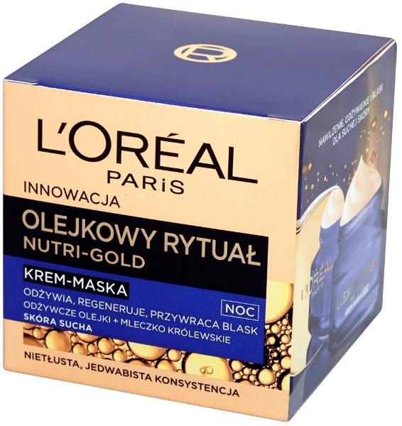 L'oreal Nutri Gold Olejkowy Rytuał (W) krem-maska do twarzy na noc 50ml