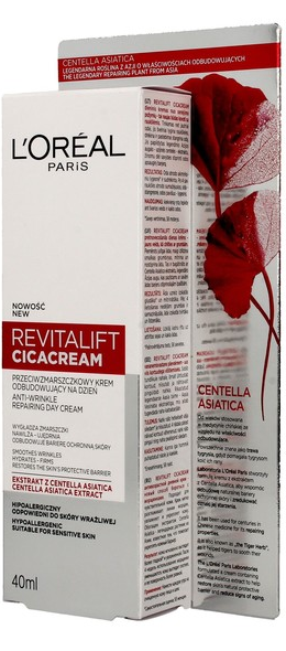 L'oreal Revitalift Cicacream (W) przeciwzmarszczkowy odbudowujący krem do twarzy na dzień 40 ml