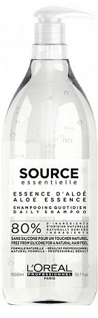 L'Oreal Source Essentielle Daily Shampoo (W) naturalny szampon do włosów normalnych i cienkich 1500ml