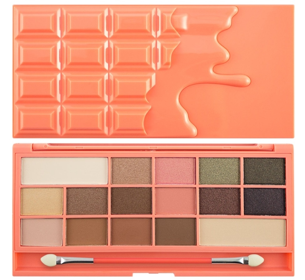 Makeup Revolution I Love Makeup Palette (W) paleta 16 cieni do powiek Chocolate and Peaches 22g