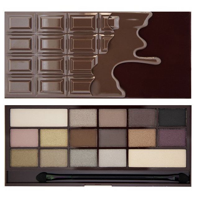Makeup Revolution I Love Makeup Palette (W) paleta 16 cieni do powiek Death By Chocolate 22g