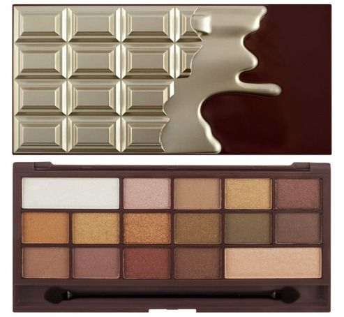 Makeup Revolution I Love Makeup Palette (W) paleta 16 cieni do powiek Chocolate Golden Bar 22g