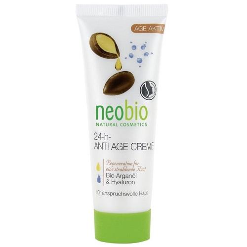 Neobio 24-h-Anti Age Creme (W) krem do twarzy z Olejkiem Arganowym i Kwasem Hialuronowym Eko 50ml