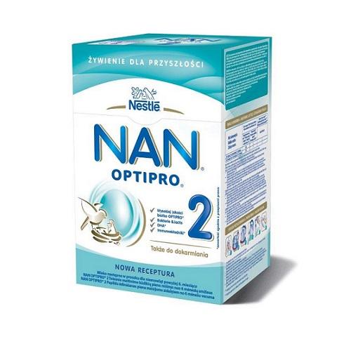 Nestle Nan Optipro 2 mleko modyfikowane dla niemowląt powyżej 6. miesiąca 800g