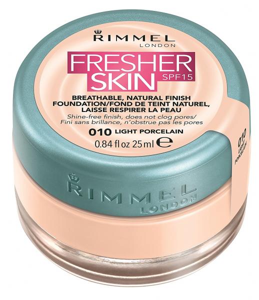 Rimmel Fresher Skin Foundation (W) podkład w kremie 010 Light Porcelain 25ml
