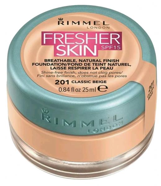 Rimmel Fresher Skin Foundation (W) podkład w kremie 201 Classic Beige 25ml