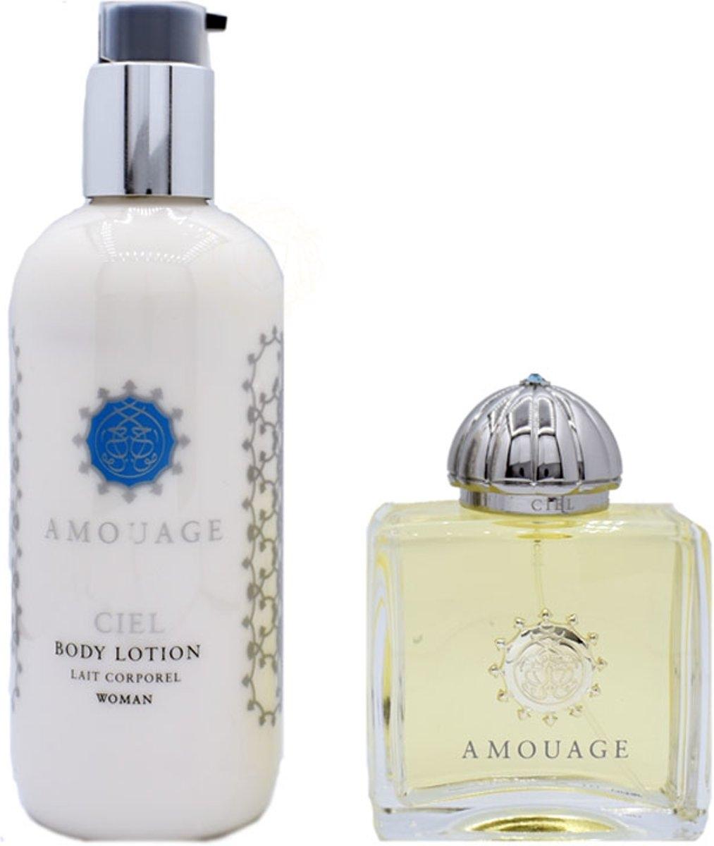 Zestaw prezentowy dla kobiet Amouage Ciel woda perfumowana 100ml + balsam do ciała 300ml