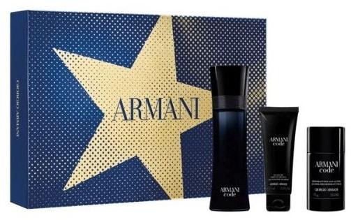 Zestaw prezentowy dla mężczyzn Armani Code woda toaletowa 125ml + żel pod prysznic 75ml + dezodorant w sztyfcie 75ml