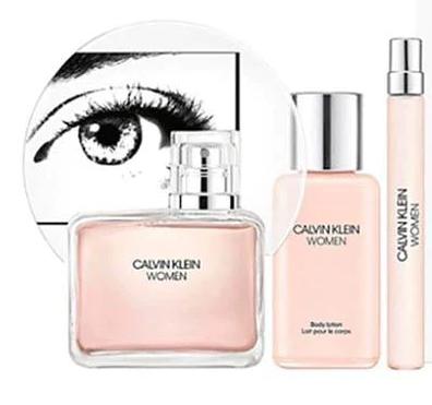 Zestaw prezentowy dla kobiet Calvin Klein Women woda perfumowana 100ml + balsam do ciała 100ml + woda perfumowana 10ml