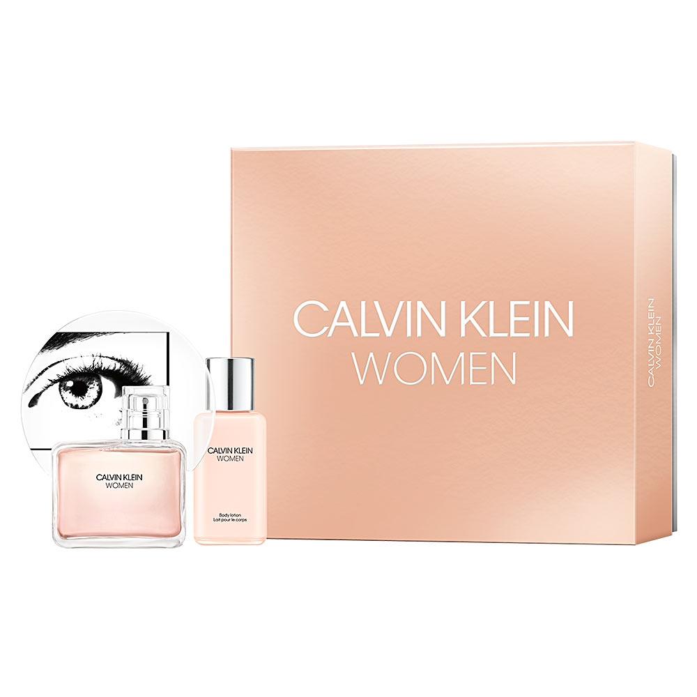 Zestaw prezentowy dla kobiet Calvin Klein Women woda perfumowana 100ml + balsam do ciała 100ml