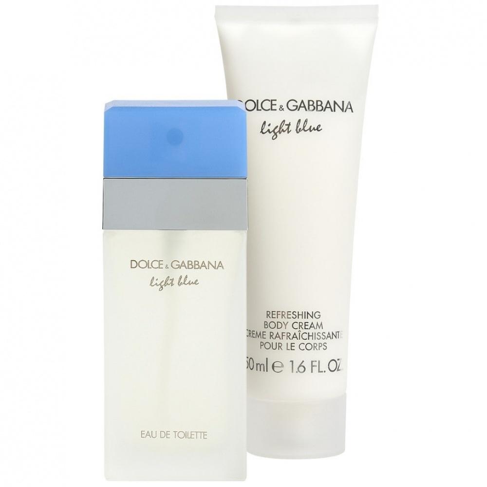 Zestaw prezentowy dla kobiet Dolce & Gabbana Light Blue woda toaletowa 25ml + balsam do ciała 50ml