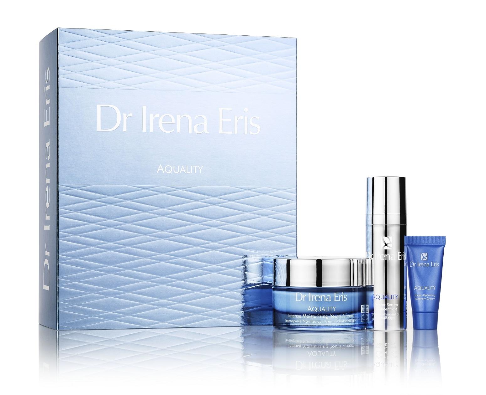 Zestaw prezentowy dla kobiet Dr Irena Eris Aquality (W) krem nawilżający 50ml + krem intensywnie nawilżający 30ml + serum 30ml
