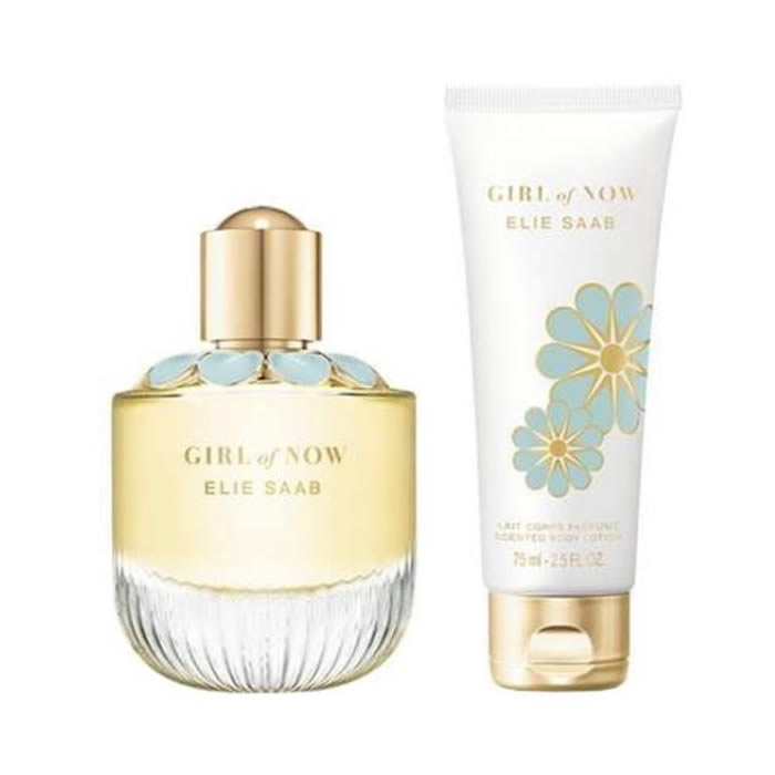 Zestaw prezentowy dla kobiet Elie Saab Girl of now shine woda perfumowana 90ml + balsam do ciała 75ml