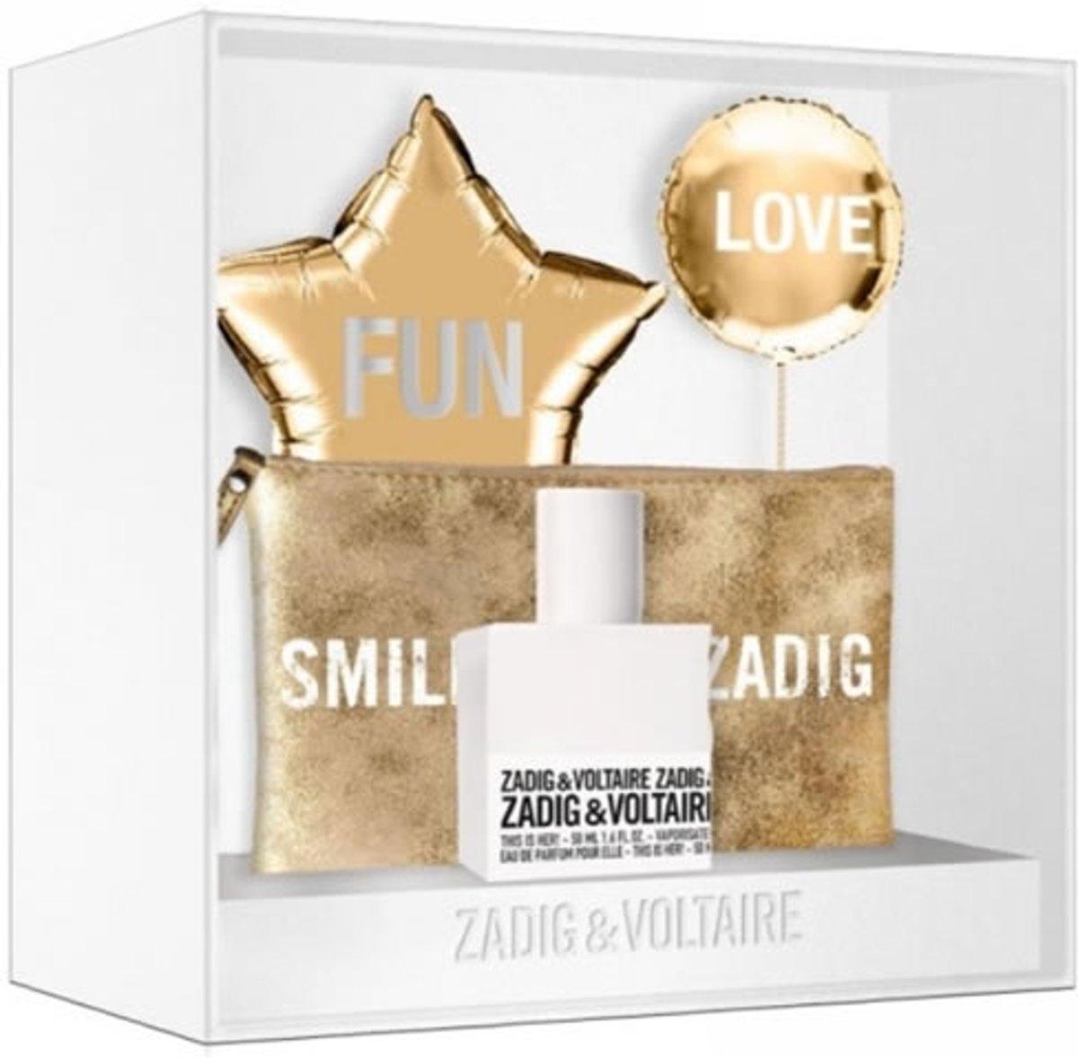 Zestaw prezentowy dla kobiet Zadig & Voltaire This is Her! woda perfumowana 50ml + kosmetyczka