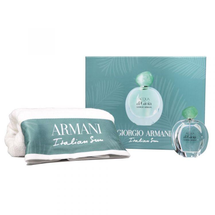 Zestaw prezentowy dla kobiet Armani Acqua Di Gioia woda toaletowa 100 ml + ręcznik