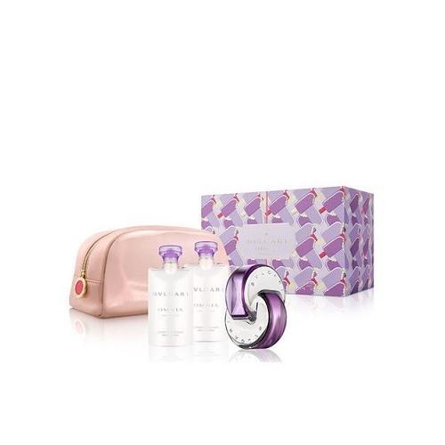 Zestaw prezentowy dla kobiet Bvlgari Omnia Amethyste woda toaletowa 65ml + 2x balsam do ciała 75ml + kosmetyczka