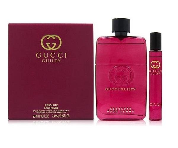 Zestaw prezentowy dla kobiet Gucci Guilty Absolute woda perfumowana 90ml + woda perfumowana 7,4ml