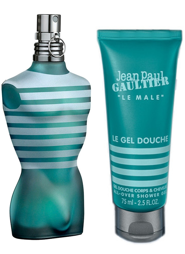 Zestaw prezentowy dla mężczyzn Jean Paul Gaultier Le Male woda toaletowa 125ml + żel pod prysznic 75ml