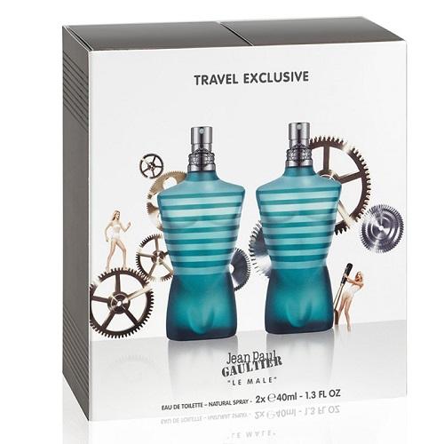 Zestaw prezentowy dla mężczyzn Jean Paul Gaultier Le Male woda toaletowa 2 x 40ml
