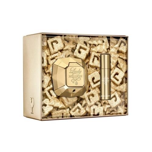 Zestaw prezentowy dla kobiet Paco Rabanne Lady Million woda perfumowana 80ml + woda perfumowana 10ml