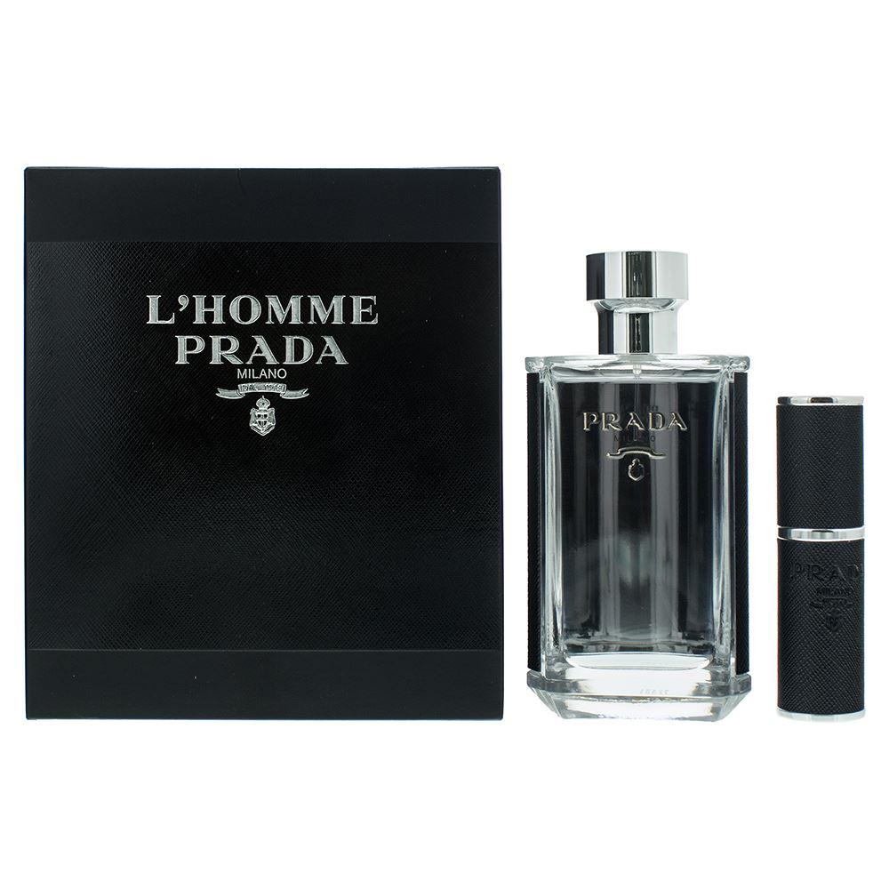 Zestaw prezentowy dla mężczyzn Prada L'Homme woda toaletowa 100ml + woda toaletowa 8ml